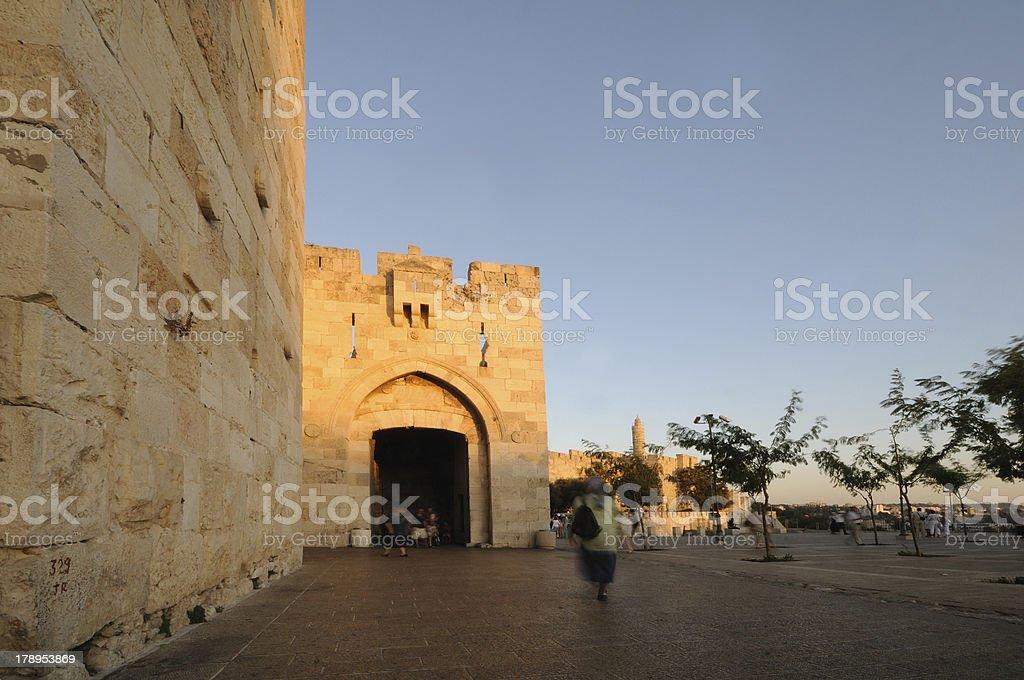 Jaffa Gate, Jerusalem's Old City royalty-free stock photo