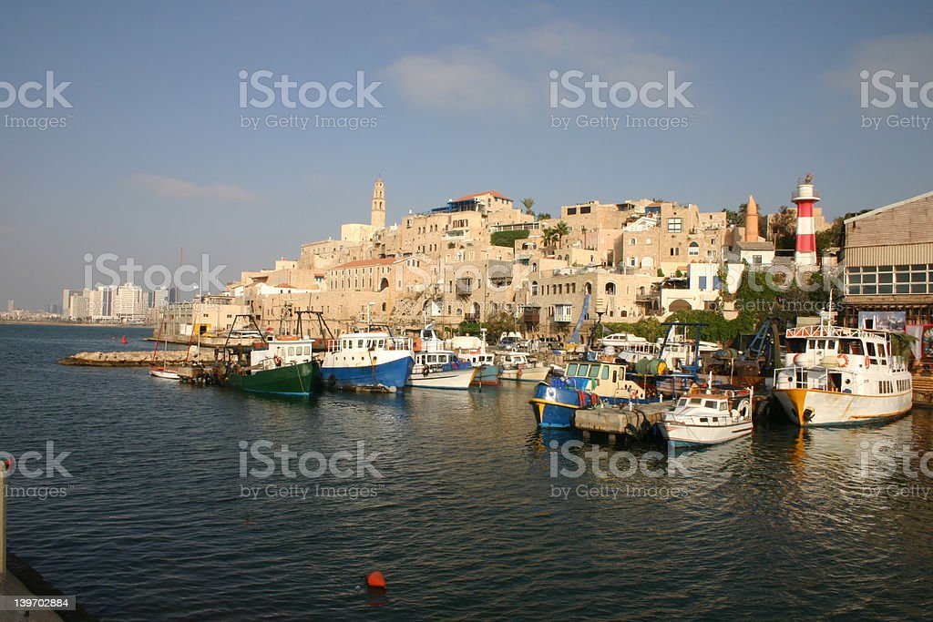 jaffa marina stock photo