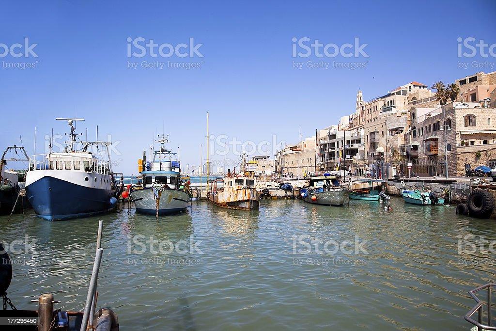 Jaffa old port. Tel Aviv, Israel stock photo