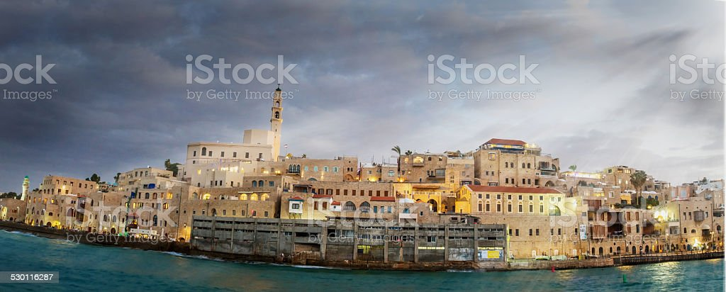 Jaffa port. stock photo