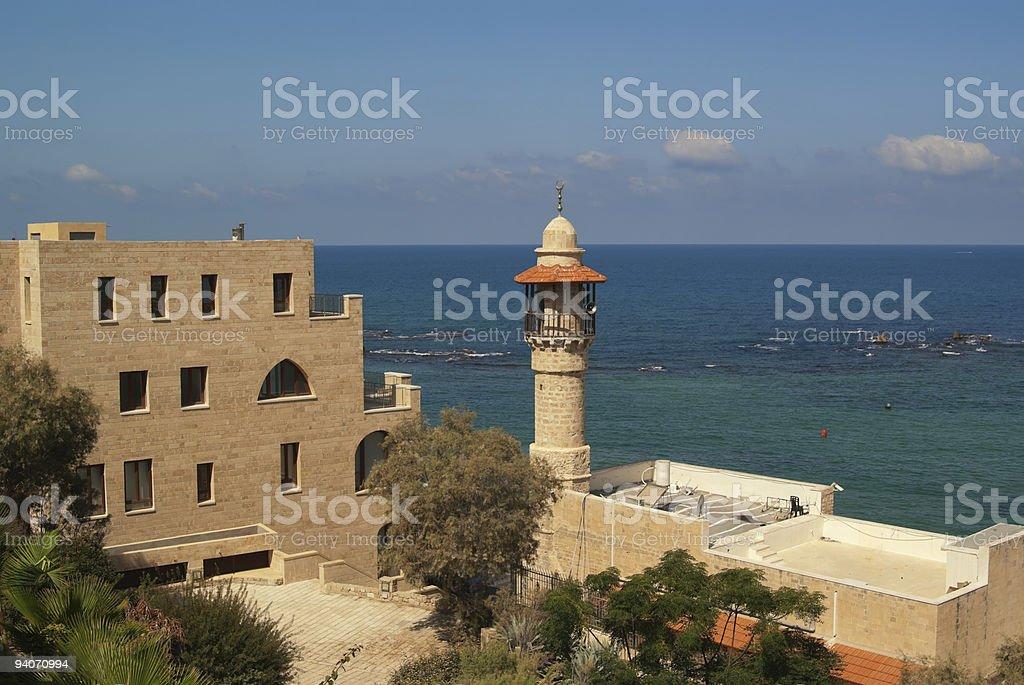 Jaffa's Sea Mosque Minaret in Israel. royalty-free stock photo