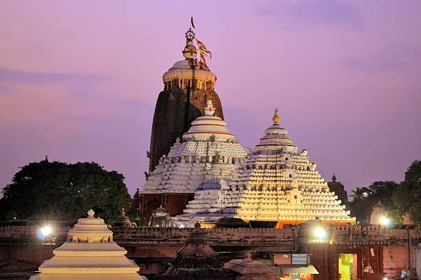 Jagannath Temple in Puri, Orissa, India stock photo