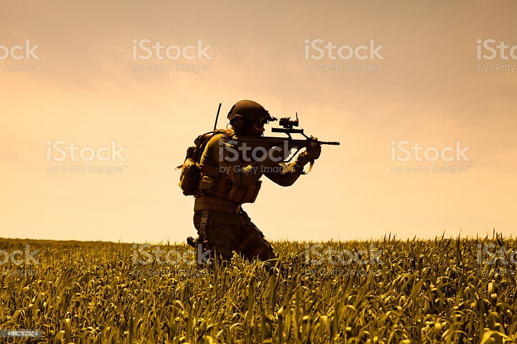 Jagdkommando Austrian special forces stock photo