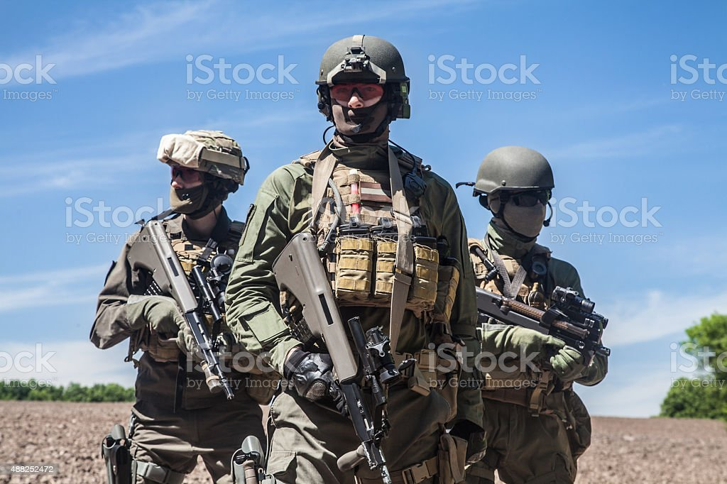 jagdkommando soldiers special forces stock photo