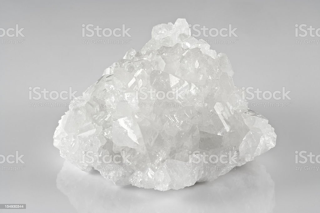 A jagged crystal of white boron stock photo