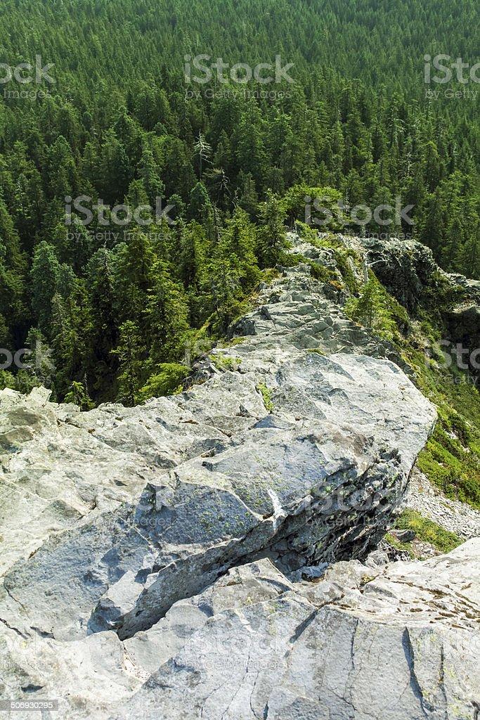 Jagged Narrow Rocky Ridge stock photo