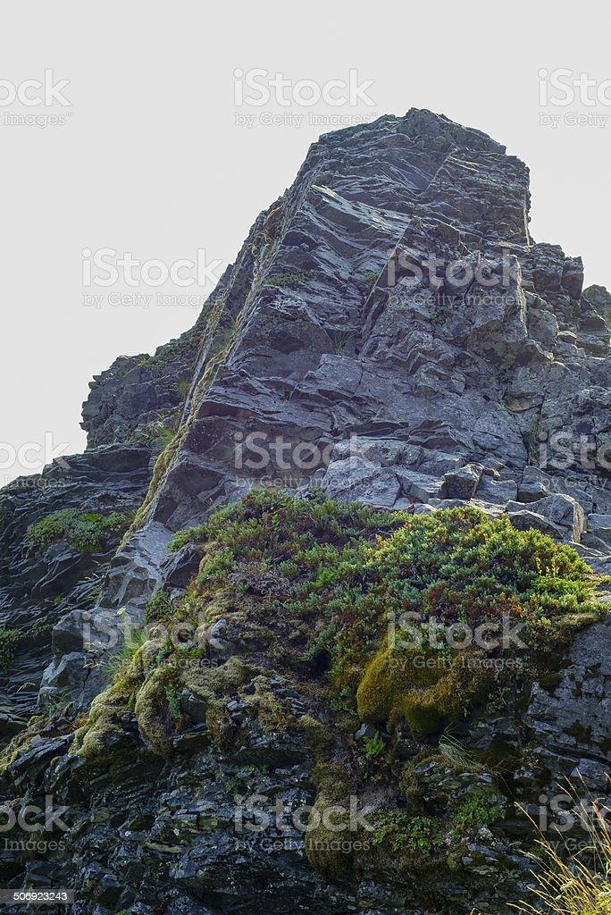 Jagged Rock Outcro royalty-free stock photo