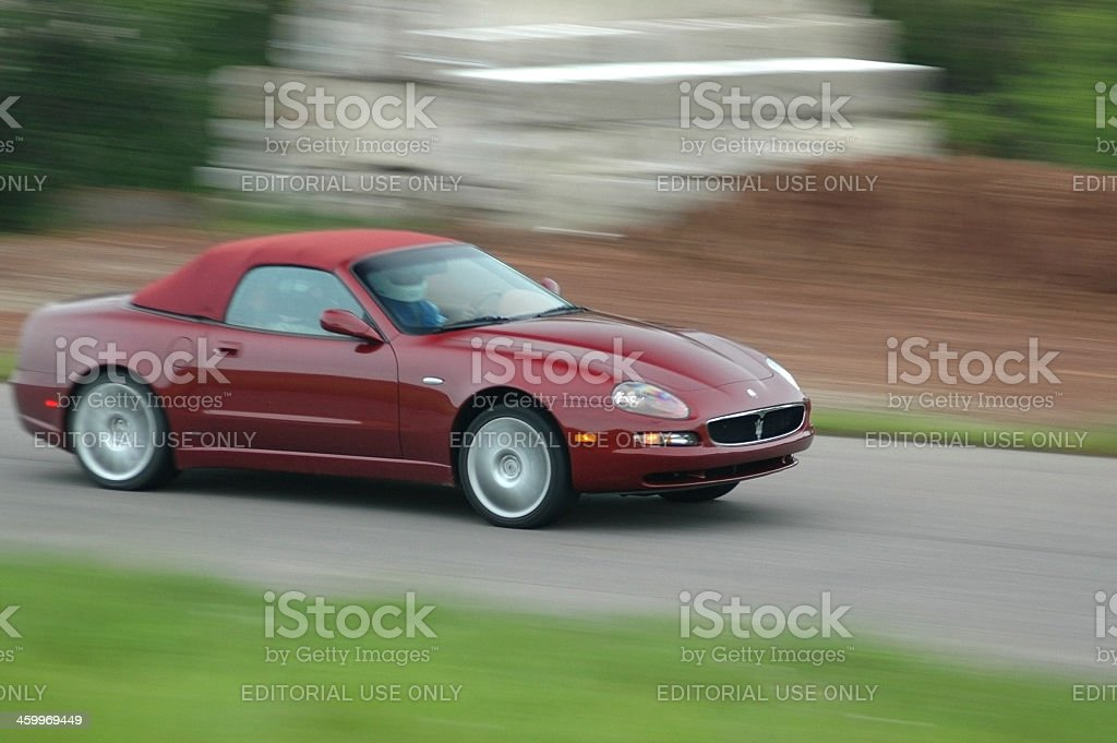 Jaguar at Driving School stock photo