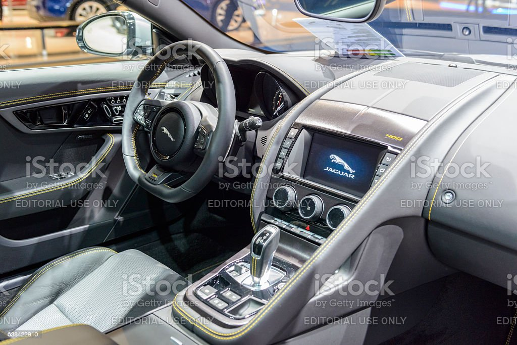 Jaguar F Type 400 Sport Coupe Sports Car Interior Foto Royalty Free