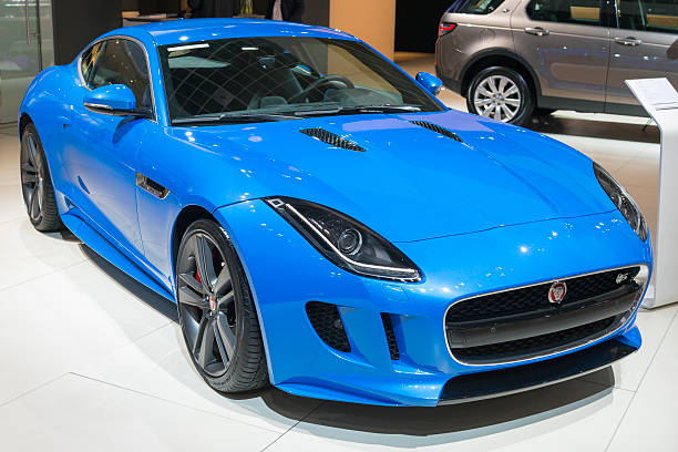 Jaguar F-Type S coupe sports car stock photo