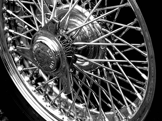 Jaguar Sports Car Wheel stock photo