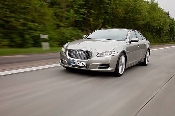 Jaguar XJ driving