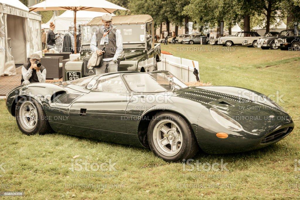 Intérieur de prototype Jaguar XJ13 des années 1960 Le Mans course voiture - Photo