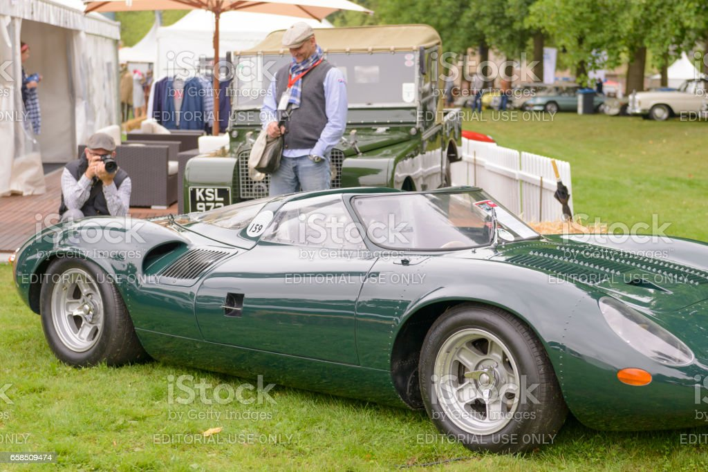 Jaguar XJ13 1960s Le Mans Race Car Prototype Interior Royalty Free Stock  Photo