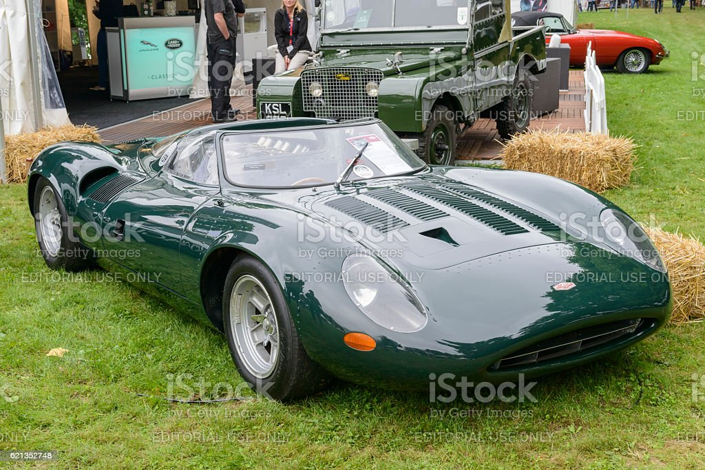 Jaguar XJ13 1960s Le Mans Race Car Prototype Royalty Free Stock Photo