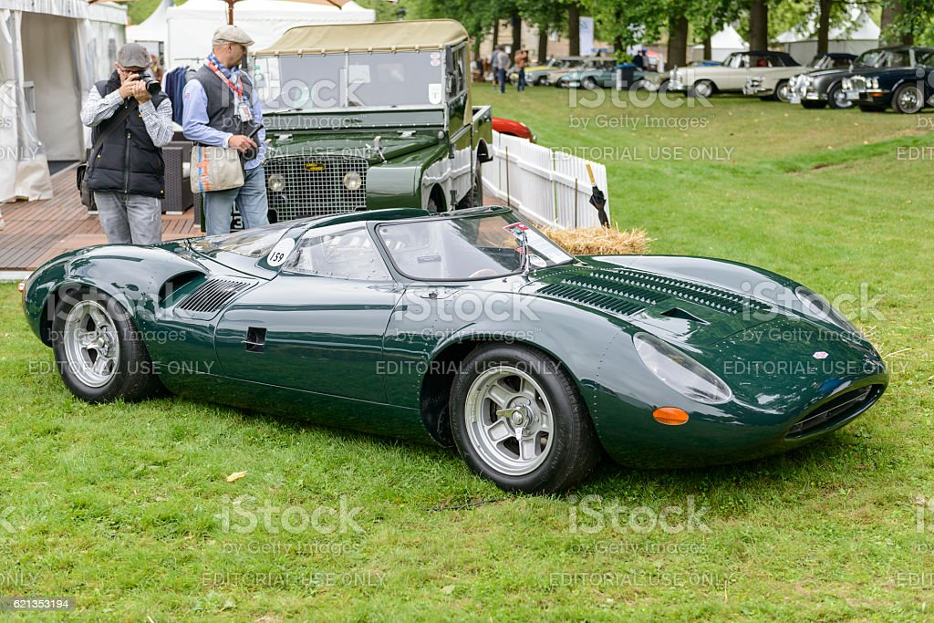 Jaguar XJ13 1960s Le Mans race car prototype stock photo