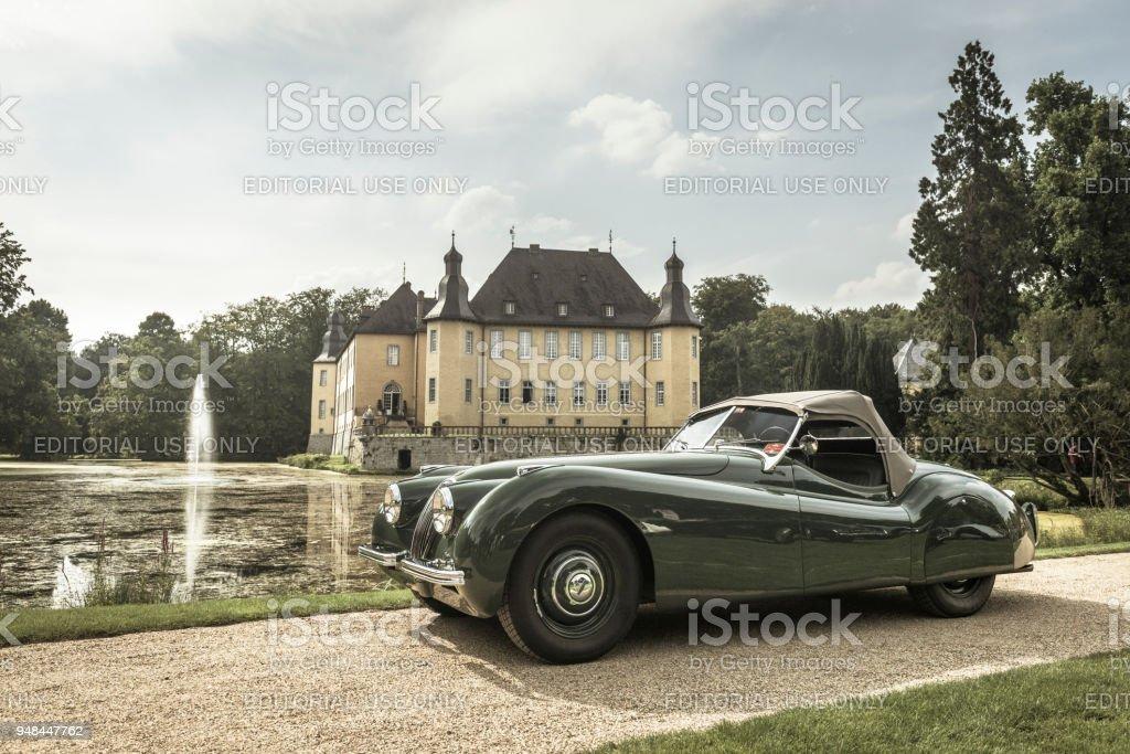 Jaguar XK 120 Roadster Classic Sports Car Royalty Free Stock Photo