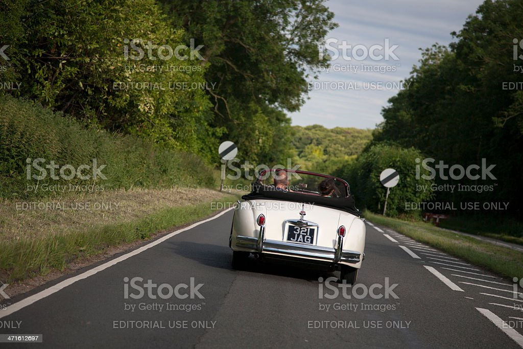 Jaguar XK 150 royalty-free stock photo