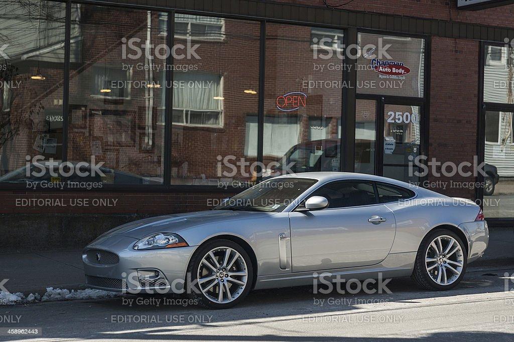 Jaguar XK royalty-free stock photo
