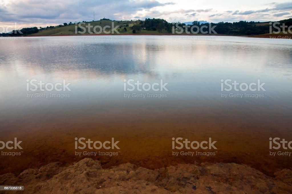Jaguari dam in São Paulo countryside stock photo