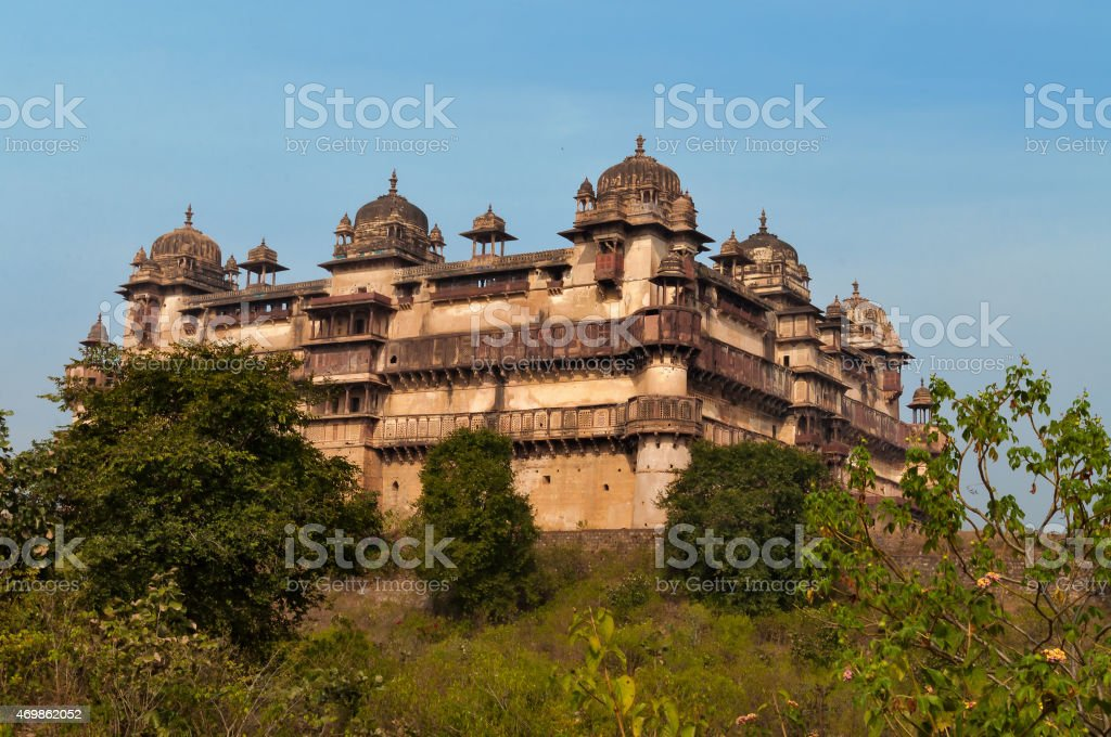 Jahangir Mahal or Orchha Palace stock photo