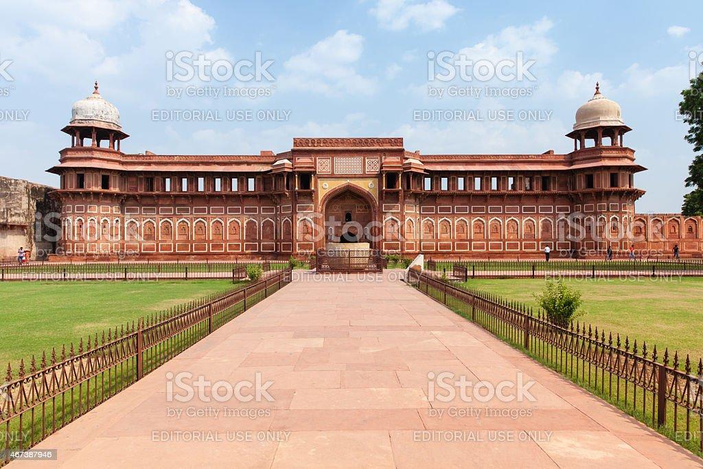 Jahangir Palace, Agra Fort, India stock photo