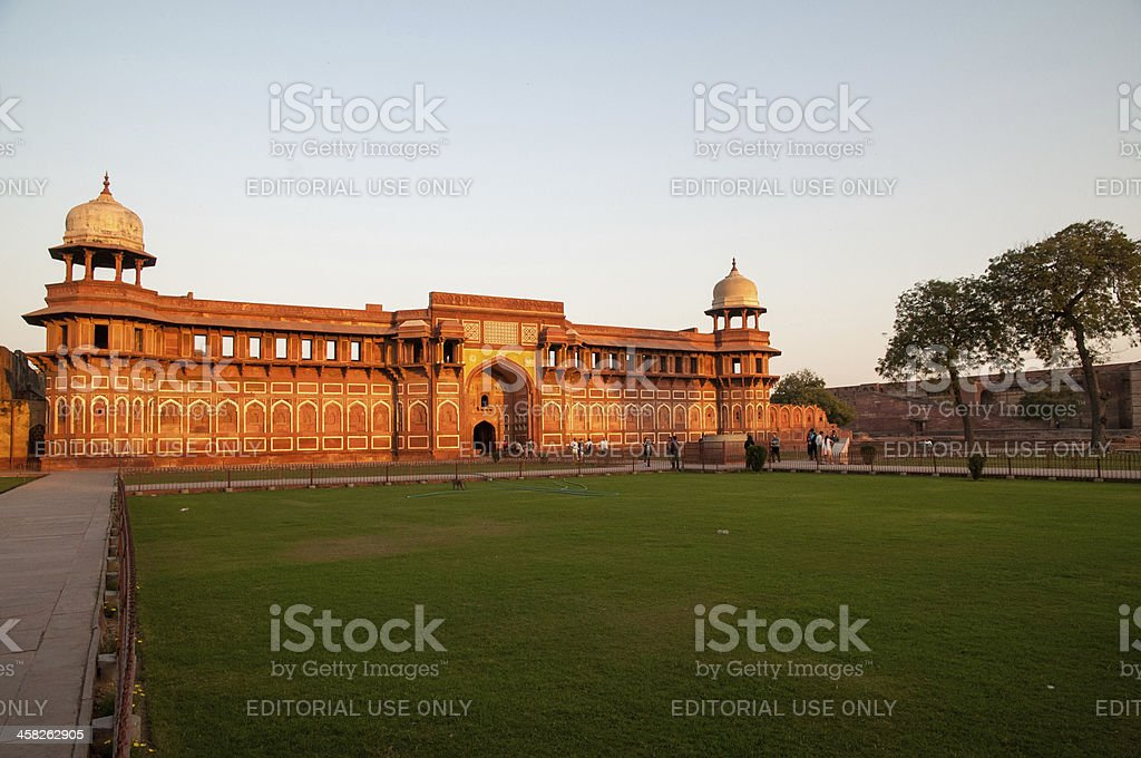 Jahangiri Mahal in Agra Fort royalty-free stock photo