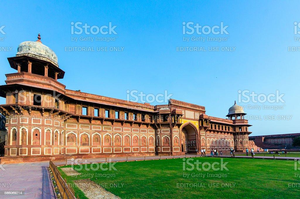 Jahangiri Mahal in Agra Red Fort stock photo