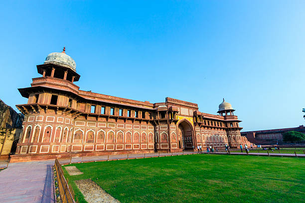 Jahangiri Mahal  in the red Fort in Agra stock photo