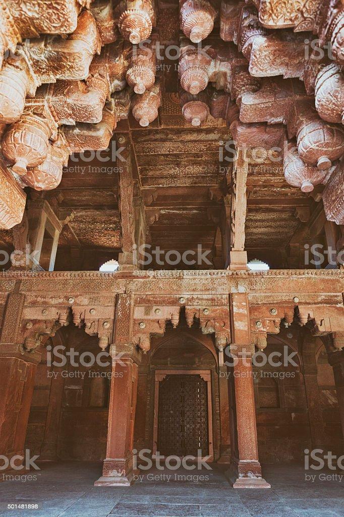 Jahangiri Mahal Interior at Agra Fort in Agra, India stock photo