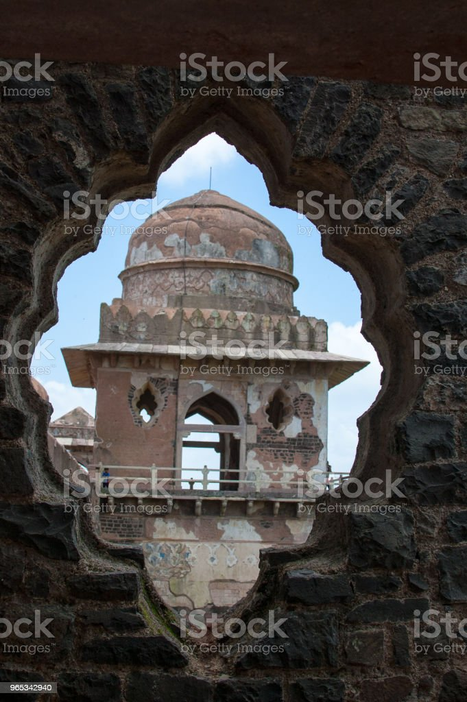 Jahaz Mahal (Ship Palace), Mandu, Madhay Pradesh, India zbiór zdjęć royalty-free