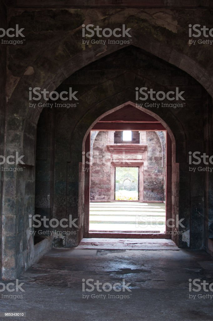 Jahaz 할 (배 궁), Mandu, Madhay 프라 데 시, 인도 - 로열티 프리 0명 스톡 사진