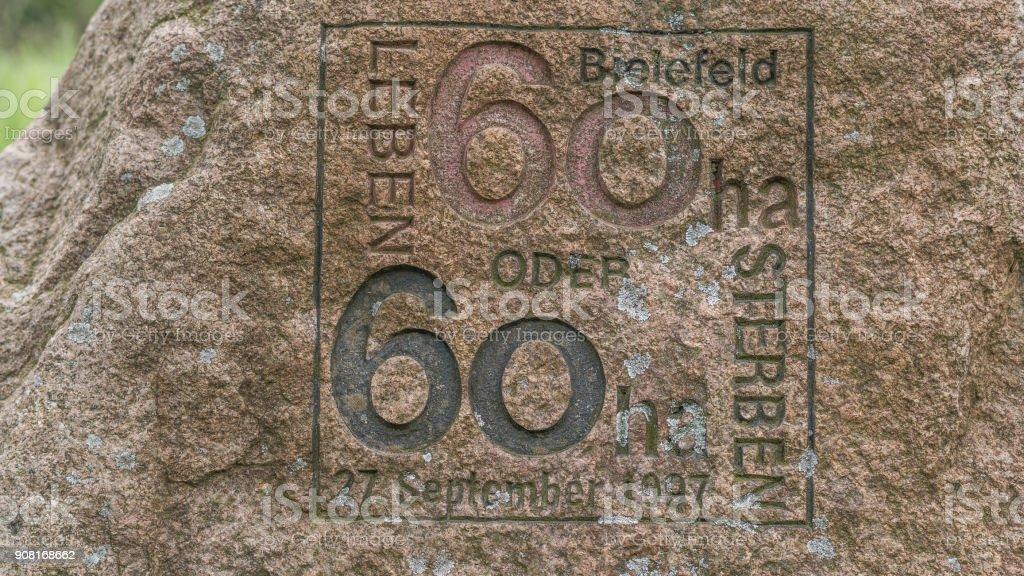 60 Jahre Bielefeld Jubiläum stock photo