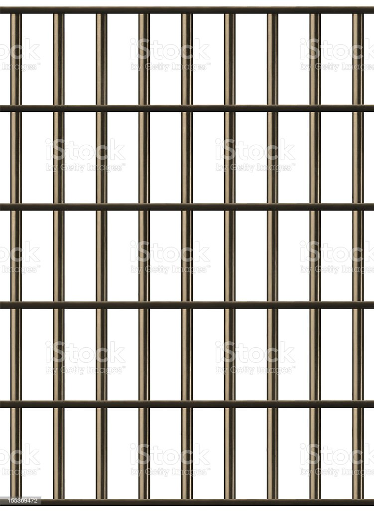 Jail Cell Bars royalty-free stock photo