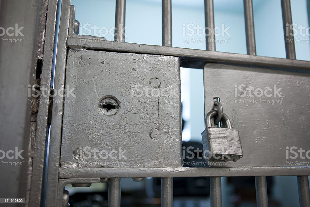 Jail Cell Door royalty-free stock photo