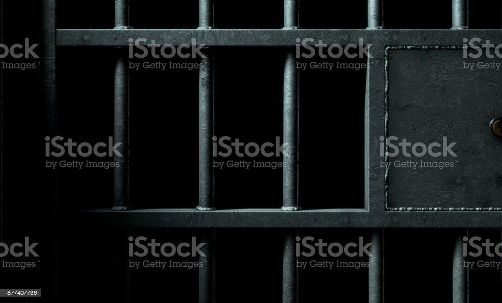 Jail Cell Door stock photo