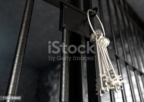 istock Jail Cell Keys 1133783840
