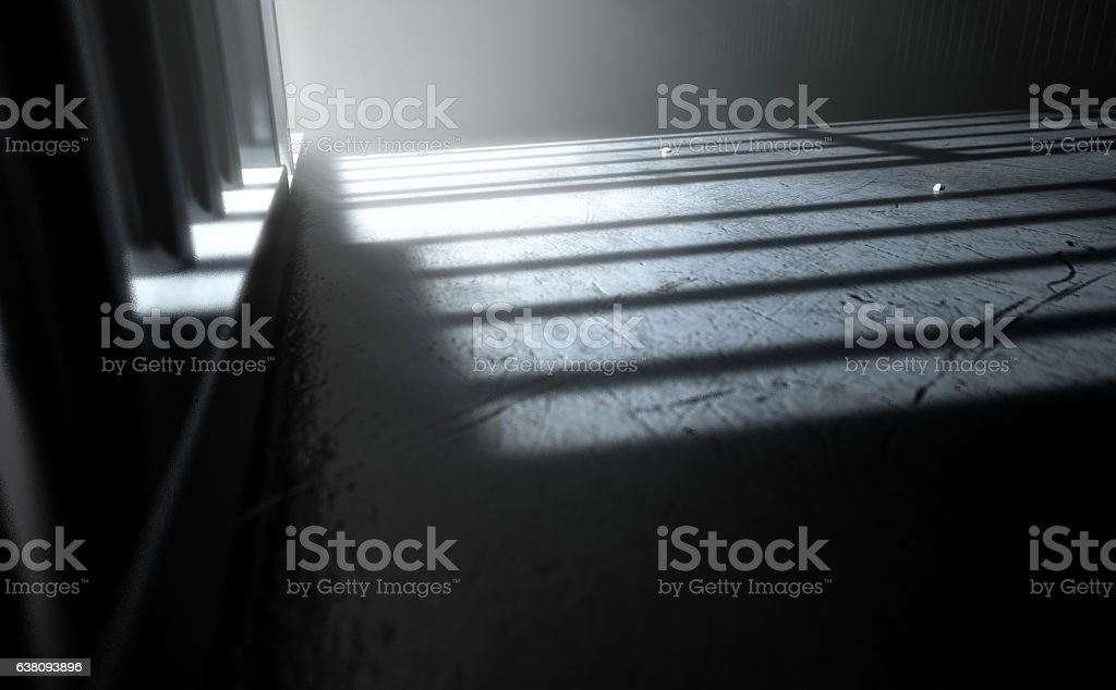 Jail Cell Shadows stock photo
