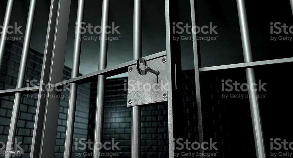 Jail Cell With Open Door stock photo