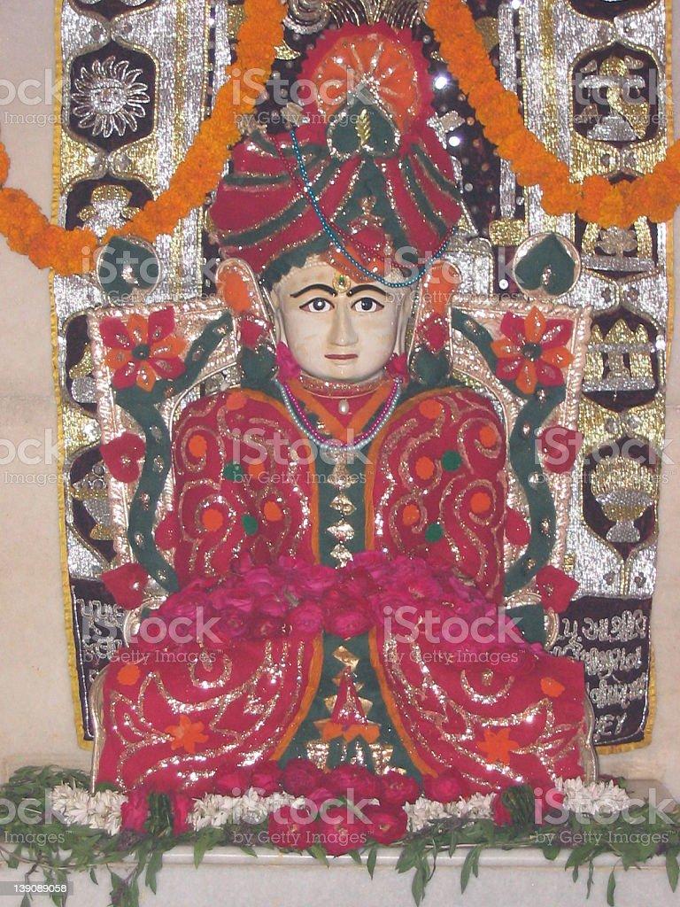 Jain God Shantinath stock photo