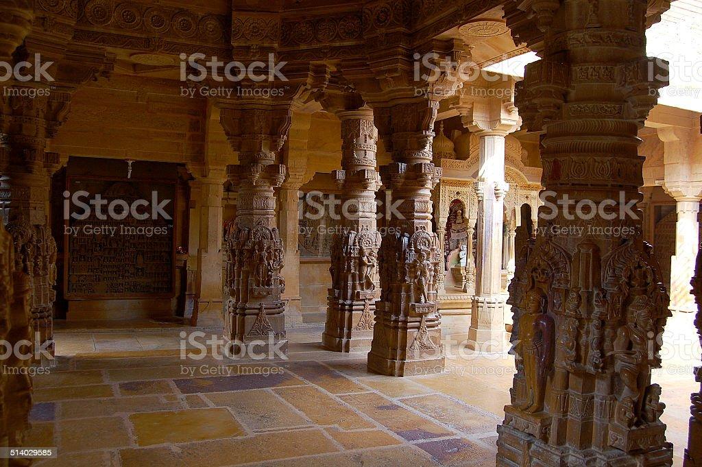 Jain Temple, City Palace, Jaisalmer, Rajasthan - Stock Image stock photo