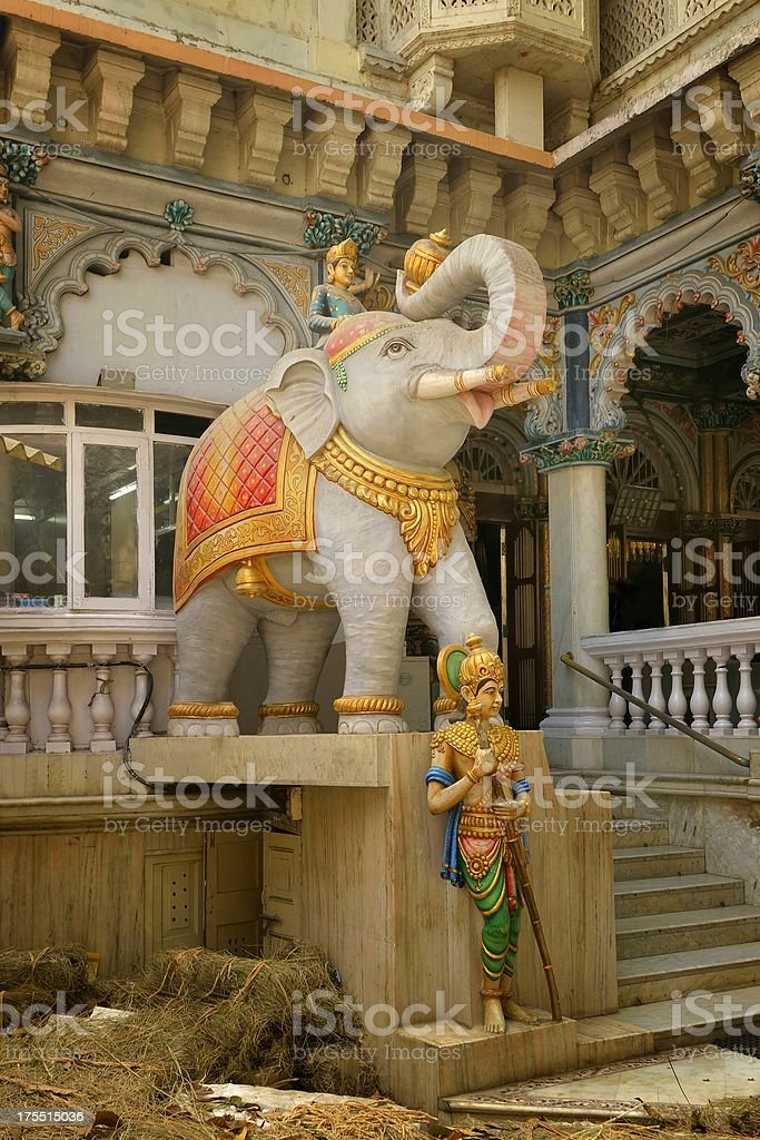Jain Temple Elephant Tirthankara stock photo