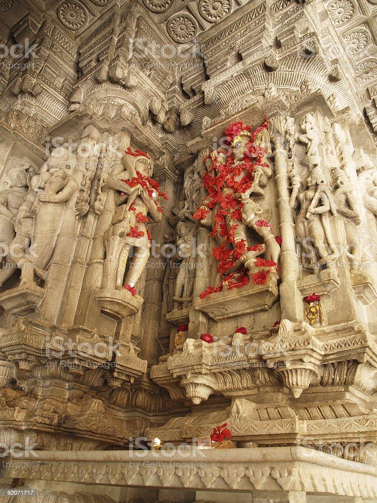 Jain Temple in Ranakpur royalty-free stock photo