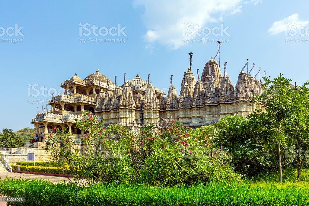 Jain Temple in Ranakpur,India stock photo