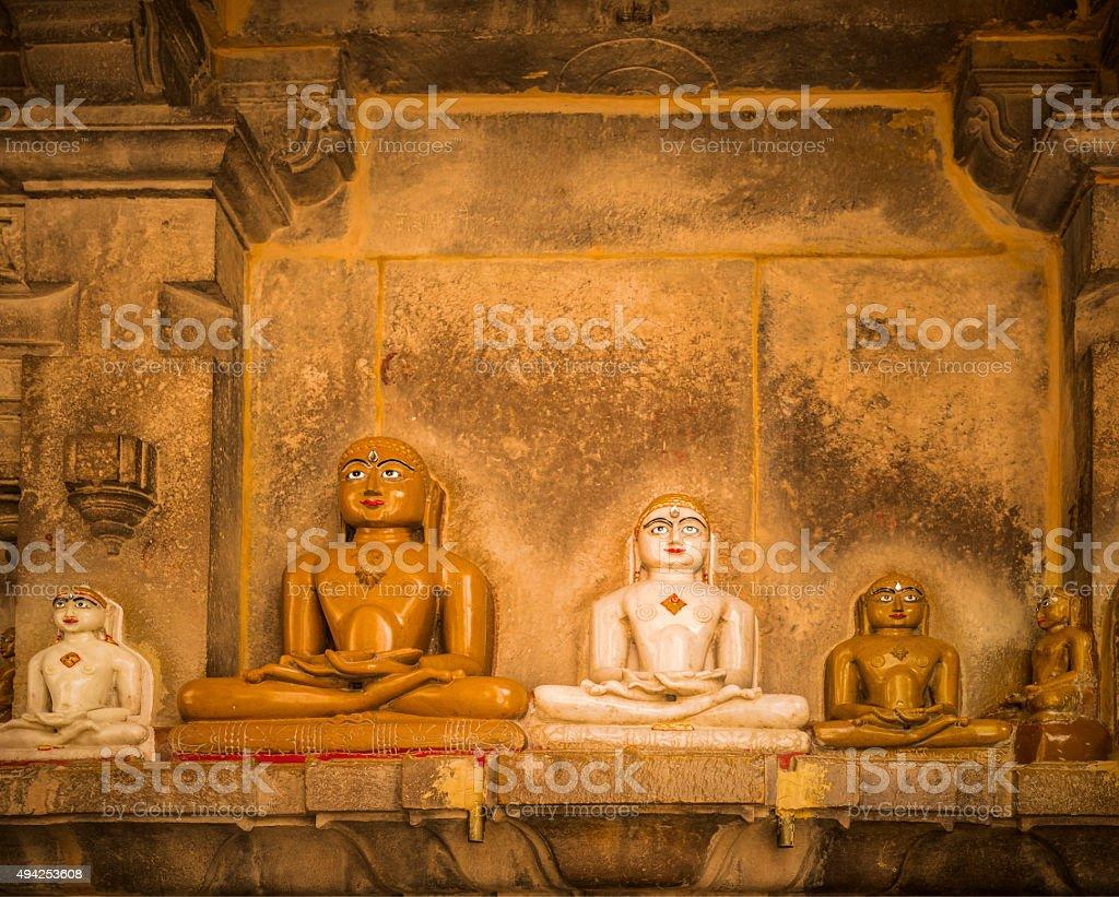 Jain temple Mahaviras in Jaisalmer India stock photo