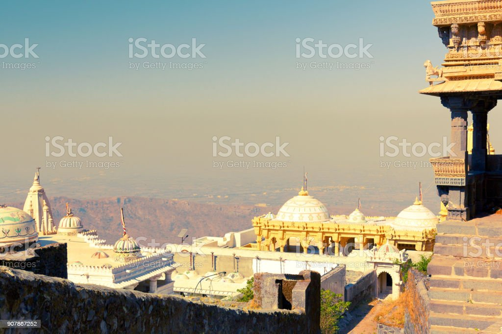 Jain temples in Junagadh stock photo