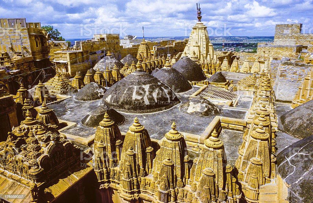 jain temples of jaisalmer in rajasthan stock photo