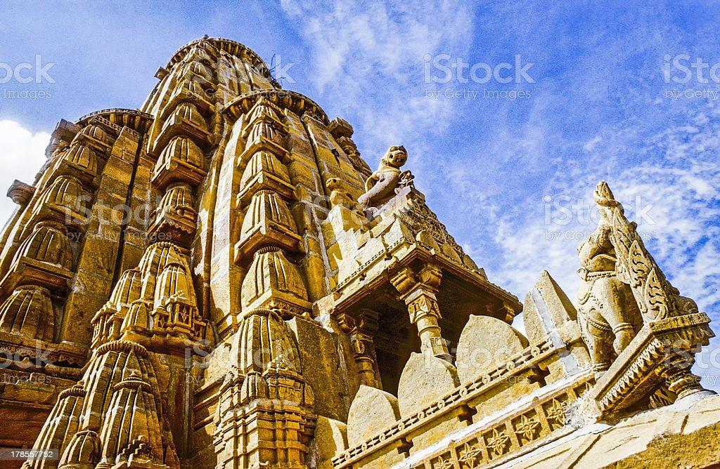 jain temples of jaisalmer in rajasthan state stock photo
