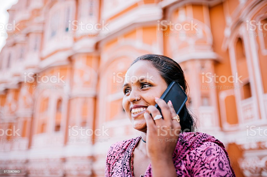 Jaipur City Palace call stock photo