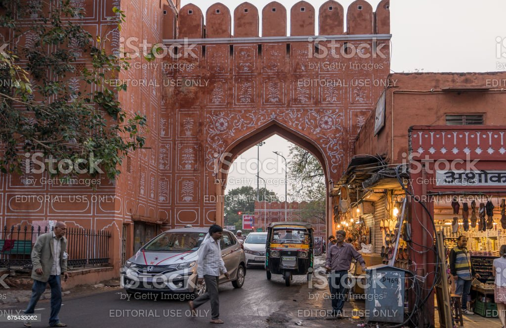 Jaipur, India. Mar 2, 2017. Busy trafic in the pink city Jaipur India royalty-free stock photo